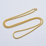 24 Inch Gold Stainless Steel Square Rolo Chain for Floating Locket